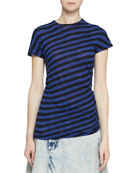 Proenza Schouler Short-Sleeve Twisted Stripe T-Shirt