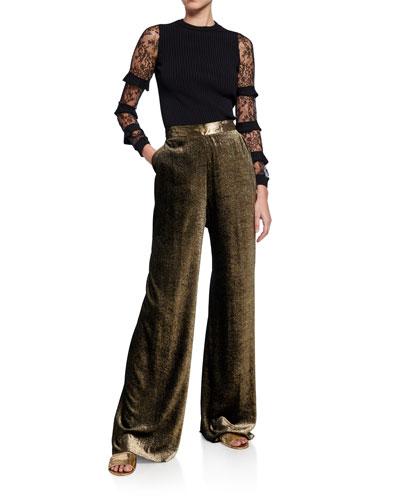 27aeafe1b298ae Womens Velvet Pants | Neiman Marcus