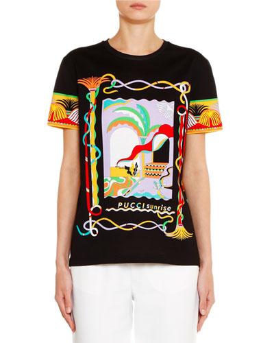 Tee Hem Straight Jersey Printed Marcus Neiman wzqA4A0Yx