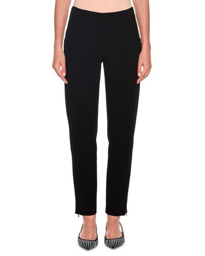 1a0b1003702c Black Wool Skinny Pants