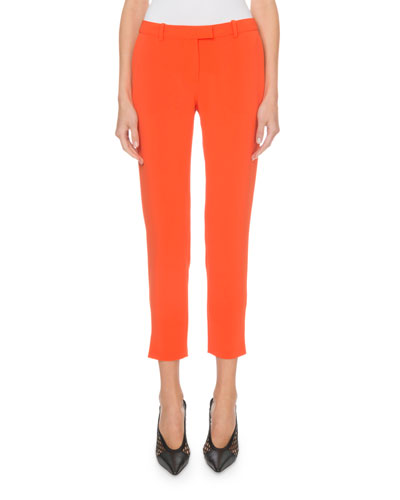 Henri Flat-Front Cropped Classic Pants