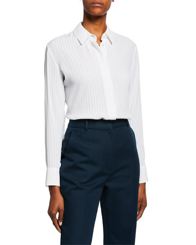 Chika Classic Striped Seersucker Shirt