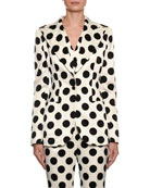 Dolce & Gabbana Single-Breasted Polka Dot Duchesse Jacket