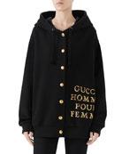 Gucci Homme Pour Femme Heavy Felted Patchwork Sweatshirt