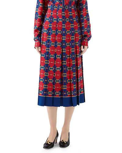 dd3e35c62 Twill Print Skirt   Neiman Marcus