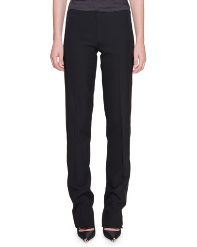 Satin-Trim Tuxedo Trousers