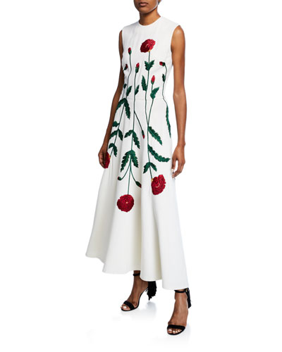 Sleeveless Jewel Neck Poppy Dress