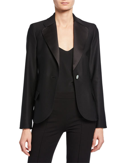 Giorgio Armani Stitched One-Button Blazer