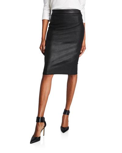 c76cc32a61 Quick Look. Giorgio Armani · Ottoman Ribbed Waxed Pencil Skirt