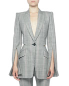 Alexander McQueen Prince of Wales Open-Back Jacket and