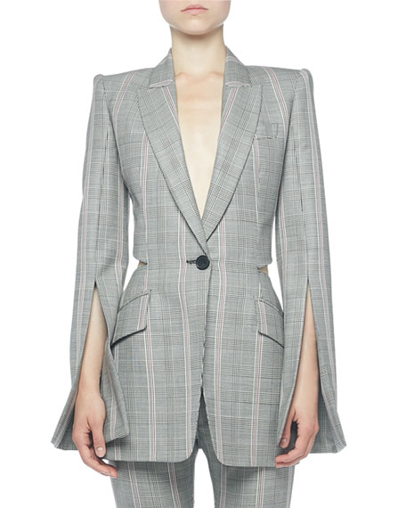 Alexander McQueen Prince of Wales Open-Back Jacket