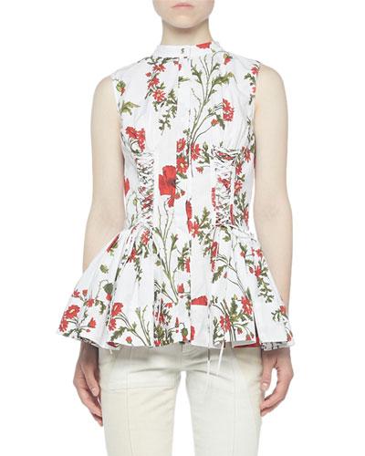 Sleeveless Poppyfield Cotton Blouse