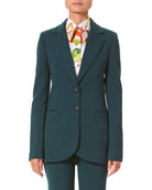 Carolina Herrera Two-Button Suit Jacket