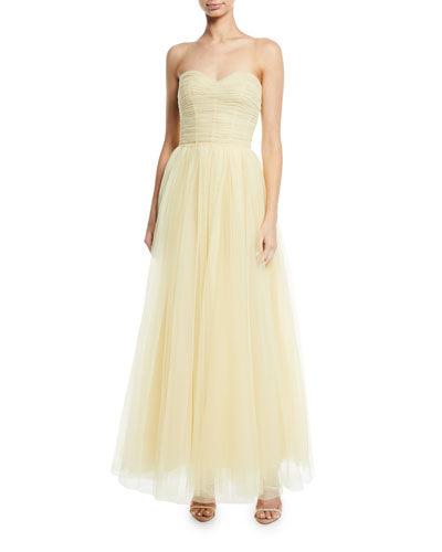 Strapless Sweetheart Tulle Gown