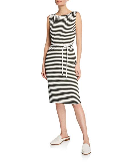 Maxmara Comica Sleeveless Striped Jersey Dress