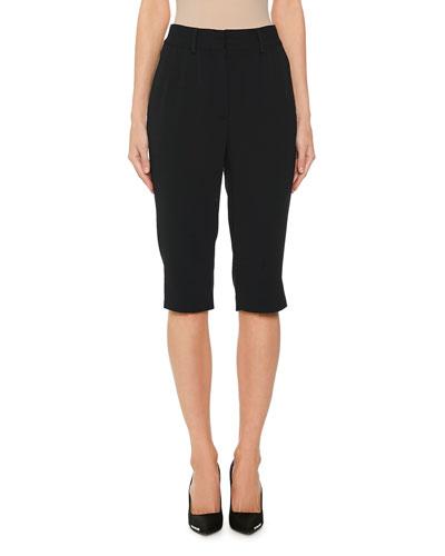 Side-Slit Capri Pants