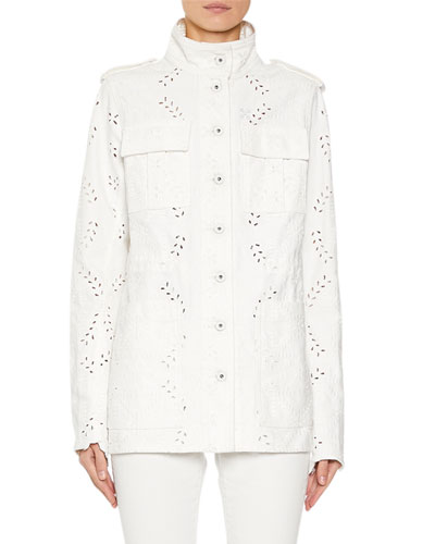 M65 Eyelet Embroidered Denim Jacket