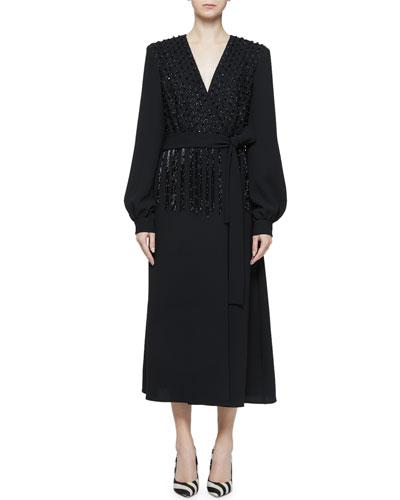 f44f409271ed Black Tie Waist Dress | Neiman Marcus