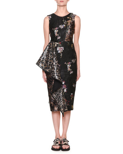 Quick Look. Antonio Marras · Leopard-Print   Floral Jacquard Sheath Dress ef986bcd4