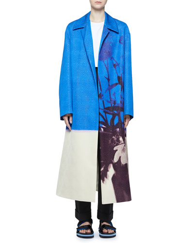 Oversized Circle-Jacquard Coat