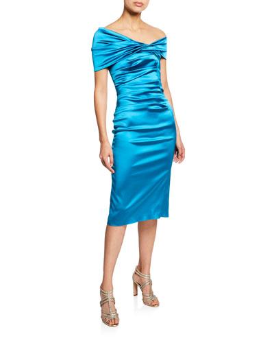 Sole Asymmetric One-Shoulder Cocktail Dress