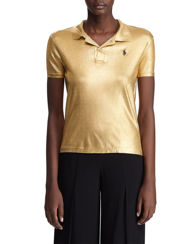 f6458db52 Quick Look. Ralph Lauren Collection · Metallic Classic Polo Shirt