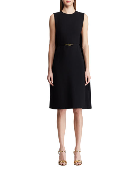 Ralph Lauren Collection Aviana Belted Cape Dress