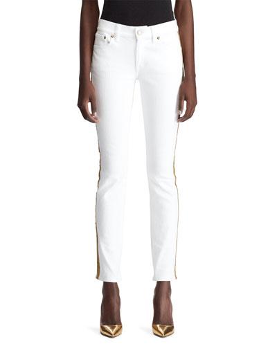 160 Tux-Stripe Skinny Jeans