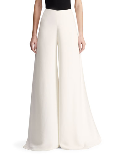 Adele Sculptural Cady Palazzo Pants