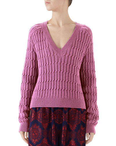 Shimmer Cable Sweater