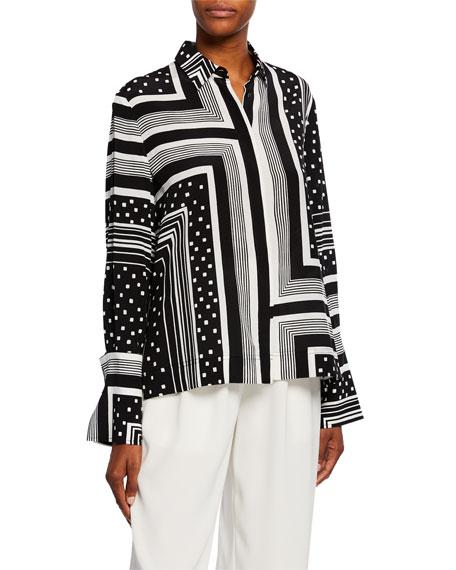 Co Geometric Button-Front Shirt