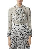 Burberry Leopard Print Stretch Jersey Mini Dress and