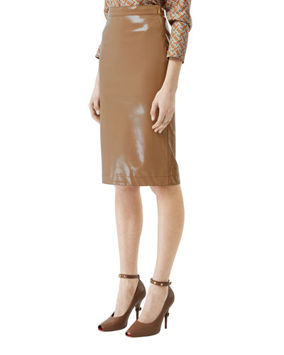 65d8d1ab1d3490 Quick Look. Burberry · Slim Vinyl Side-Zip Skirt
