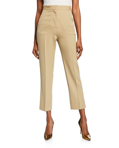 Cigarette Zip-Front Pants