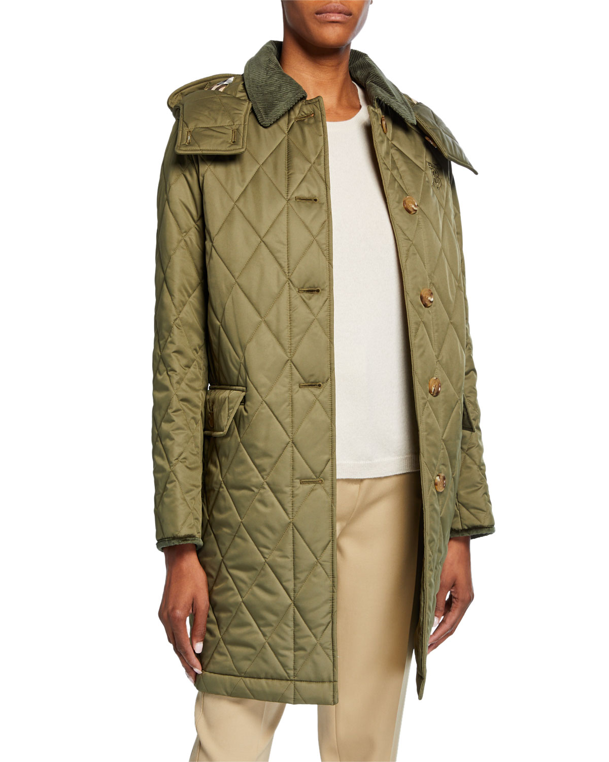 Burberry Coats QUILTED KNEE-LENGTH COAT
