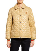 Burberry Heathfield Quilted Snap-Front Jacket