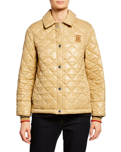 Heathfield Quilted Snap-Front Jacket