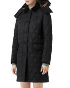 Burberry Dereham Baughton Diamond-Quilted Coat