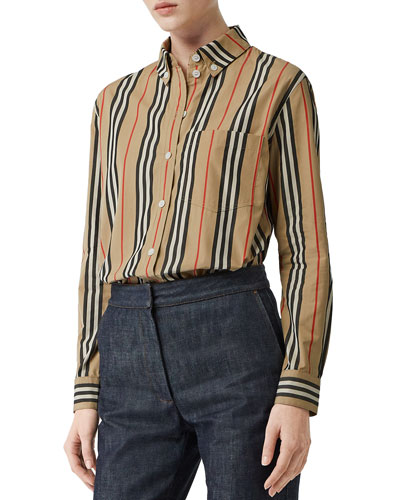 Guan Long-Sleeve Striped Shirt