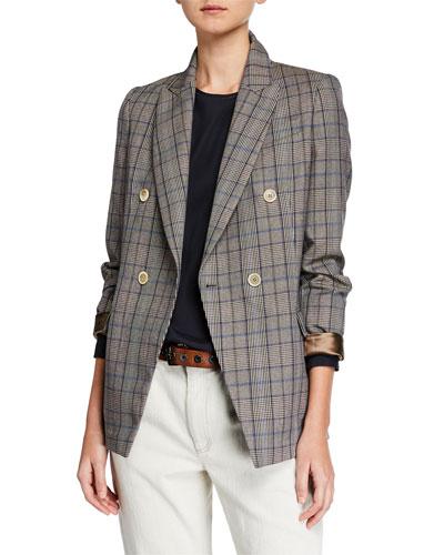 Peak-Lapel Wool/Cotton Jacket