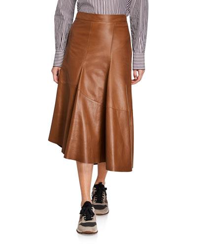 f20182e9cf Quick Look. Brunello Cucinelli · Asymmetric Leather Skirt