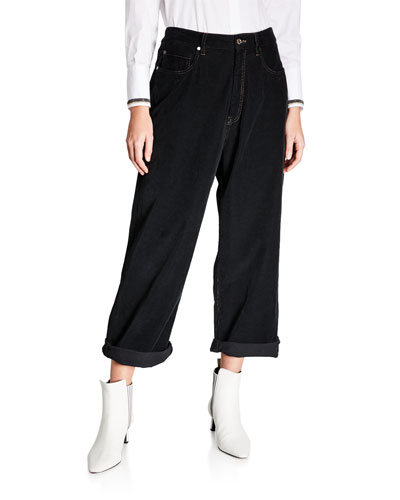 Relaxed-Fit Corduroy Jeans