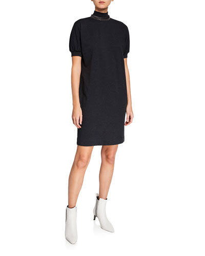 c215fb1e5a Cotton Spandex Shift Dress | Neiman Marcus