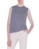 Akris Cashmere-Silk Houndstooth Jacquard Sweater and Matching