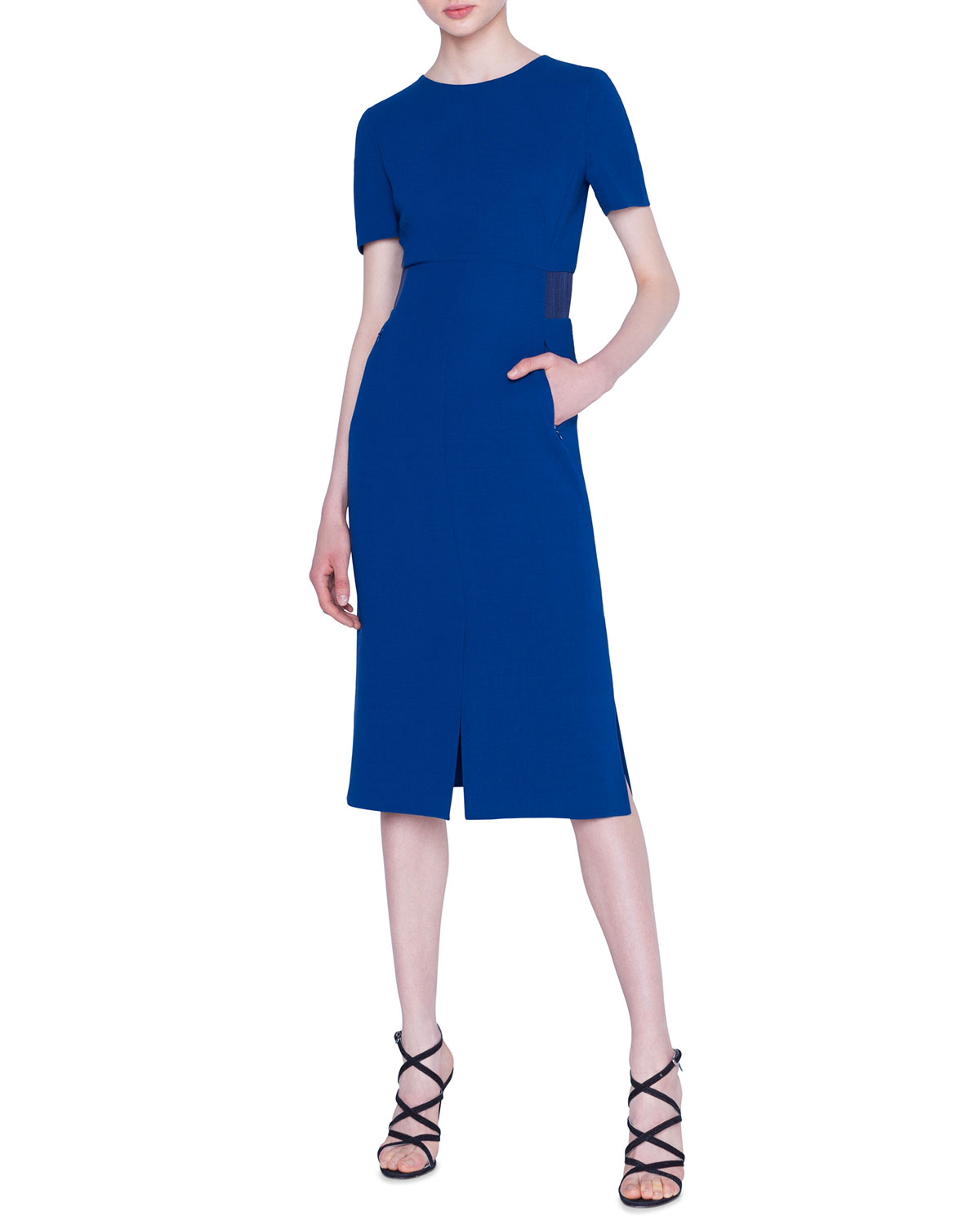 Akris Dresses DOUBLE-FACE WOOL CREPE SHEATH DRESS