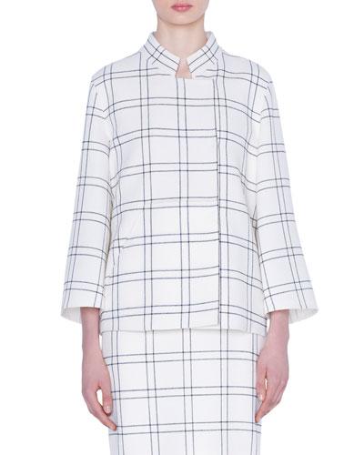 Clemence Wool Crepe Jacket