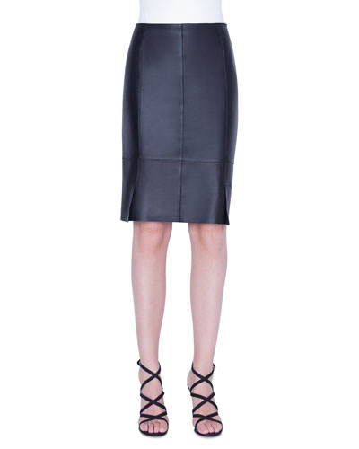 a558bb41779ca9 Quick Look. Akris · Leather Pencil Skirt
