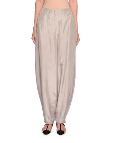 Silk Habutai Harem Pants