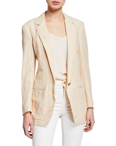 Easy Viscose/Linen Boyfriend Jacket
