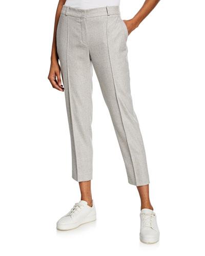 Derk Slim-Leg Wool Flannel Trousers